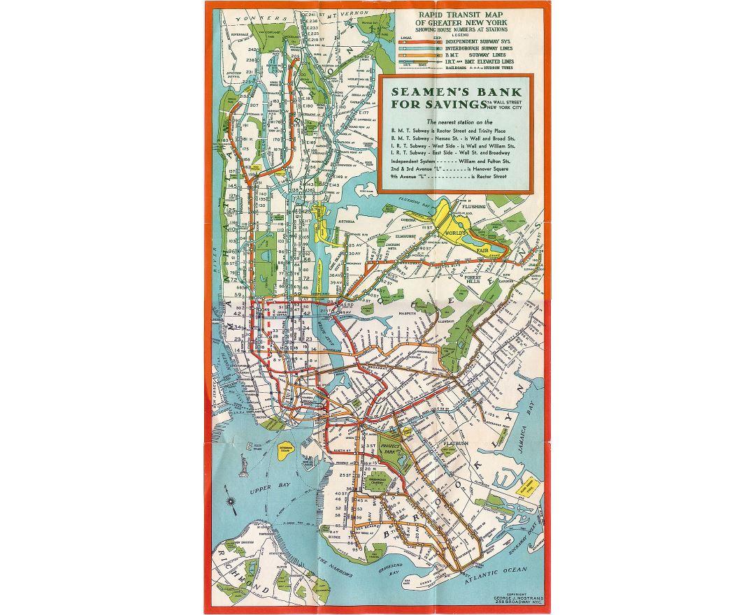 manhattan new york old subway map 1930