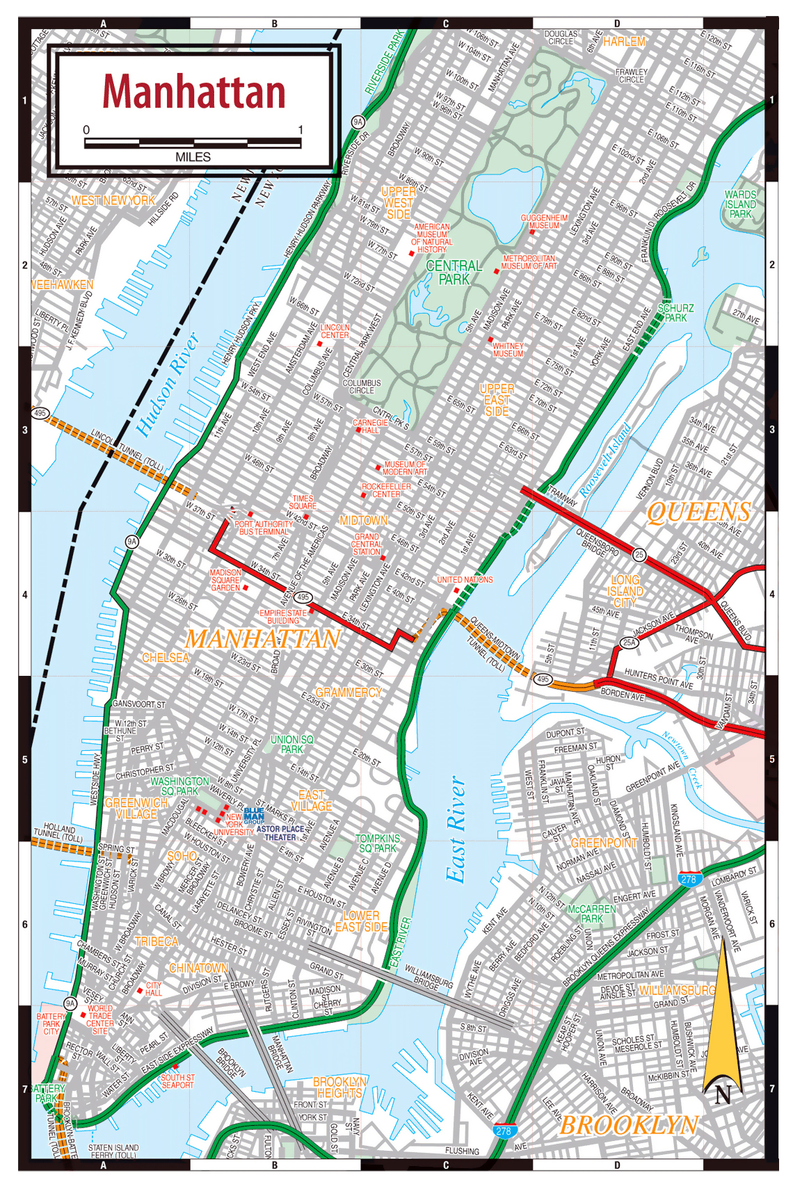 manhattan streets map