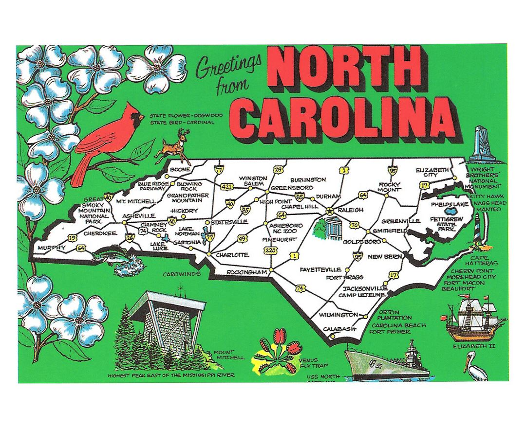 Maps Of North Carolina State Collection Of Detailed Maps Of - North carolin map