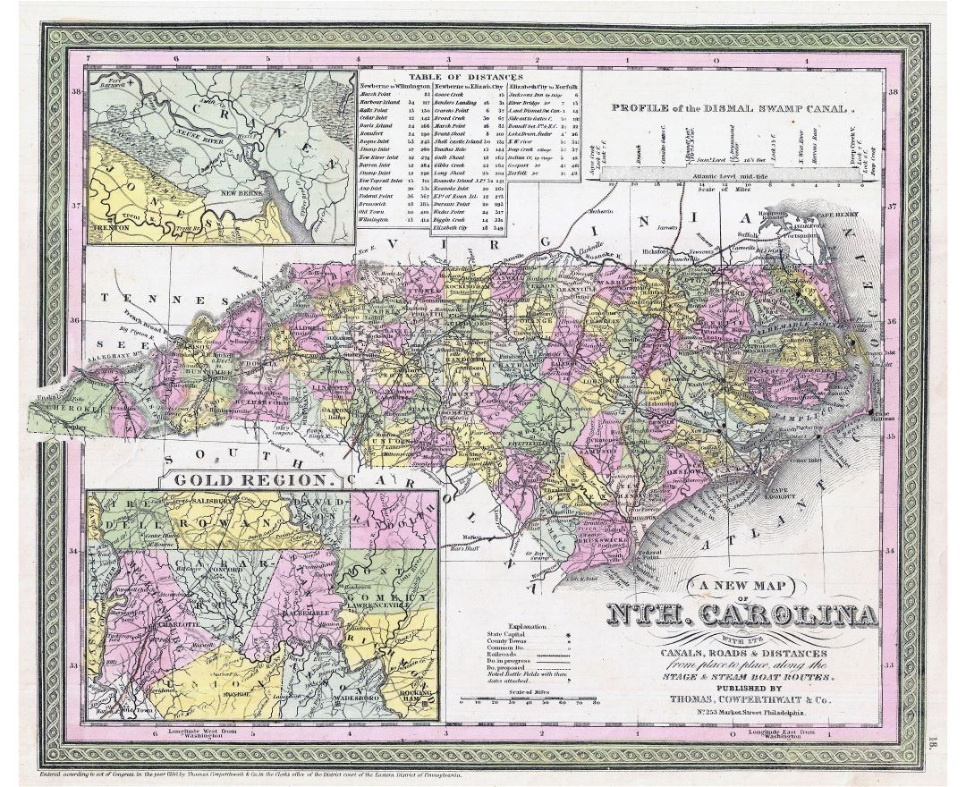 Maps Of North Carolina State Collection Of Detailed Maps Of - Map of north carolina with cities