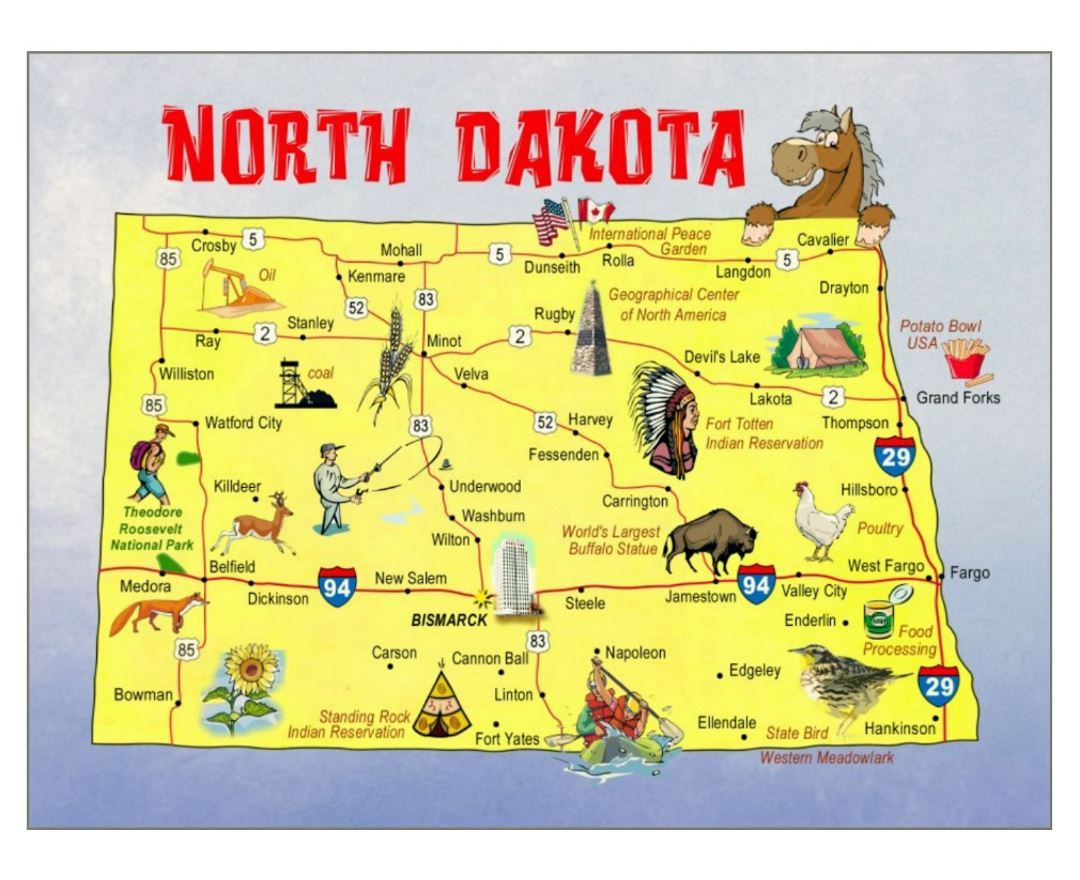 Maps Of North Dakota State Collection Of Detailed Maps Of North - Maps of north dakota