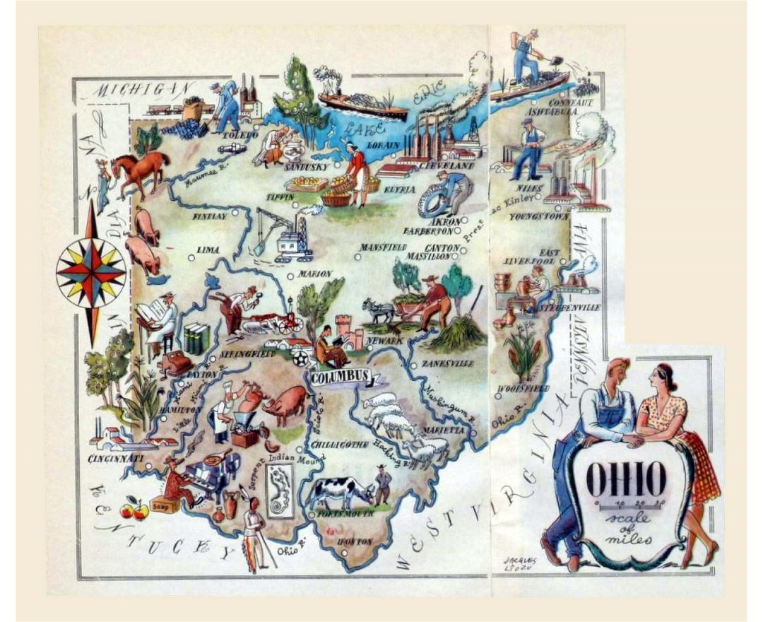 Maps Of Ohio State Collection Of Detailed Maps Of Ohio State - Driving map of ohio