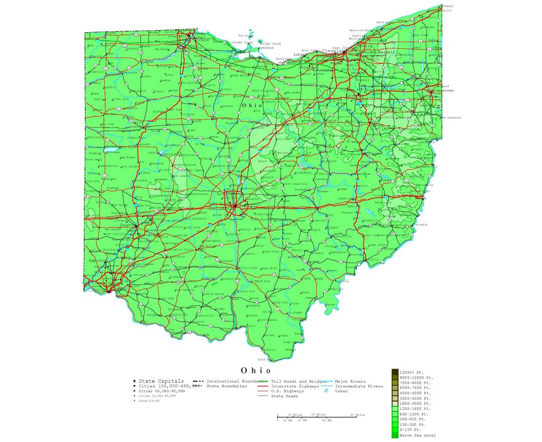 Maps Of Ohio State Collection Of Detailed Maps Of Ohio State - Detailed map of ohio
