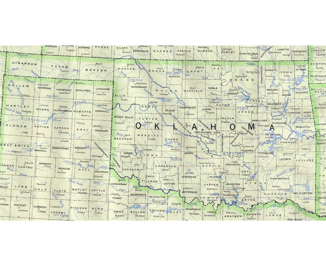 Maps Of Oklahoma State Collection Of Detailed Maps Of Oklahoma - Map of the state of oklahoma