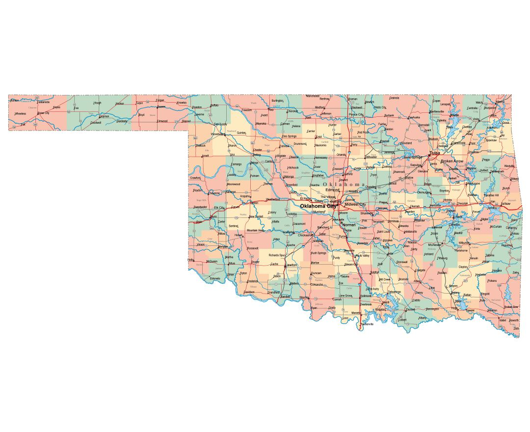 Maps Of Oklahoma State Collection Of Detailed Maps Of Oklahoma - Oklahoma map usa