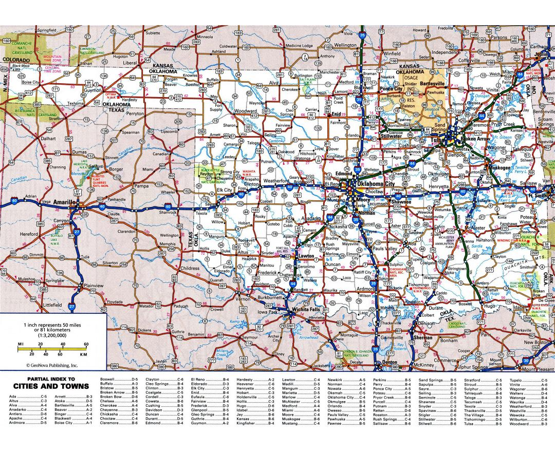 Maps Of Oklahoma State  Collection Of Detailed Maps Of