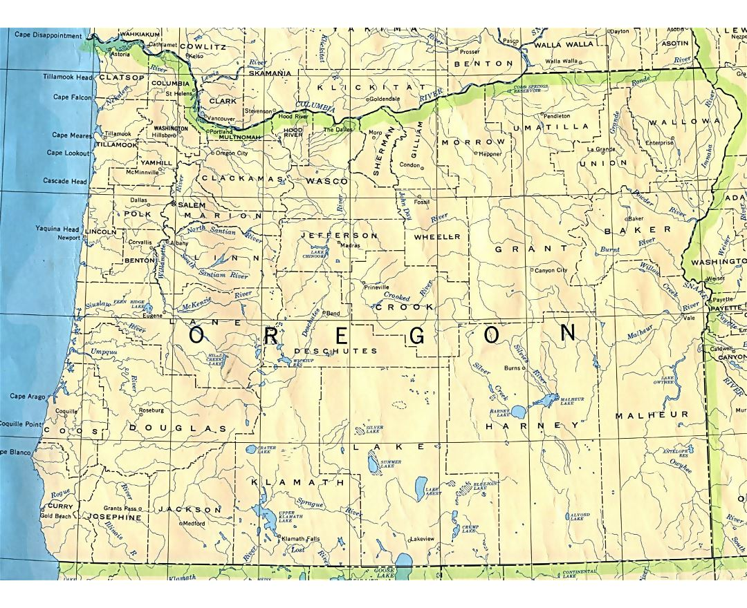 Maps Of Oregon State Collection Of Detailed Maps Of Oregon State - State map of oregon