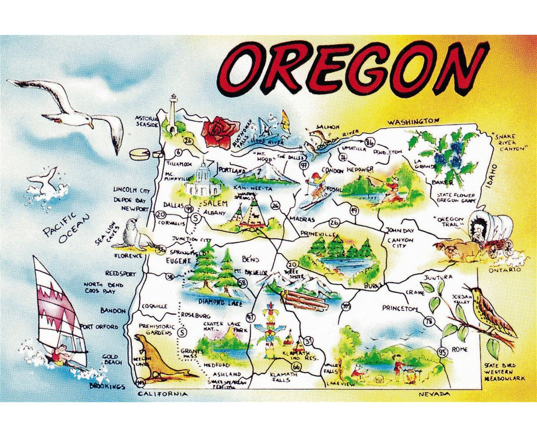 Maps Of Oregon State Collection Of Detailed Maps Of Oregon State - Map of oregon
