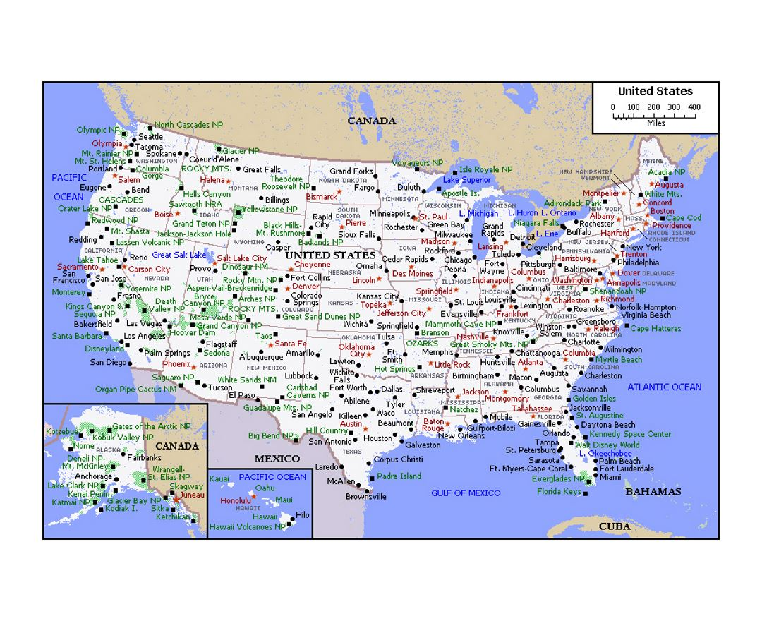 Maps Of The USA The United States Of America Political - Usa political map