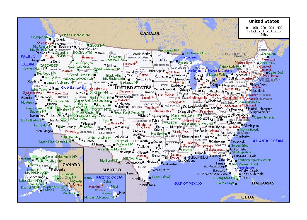 Political Map Of The United States USA Maps Of The USA Maps - Political map of the usa