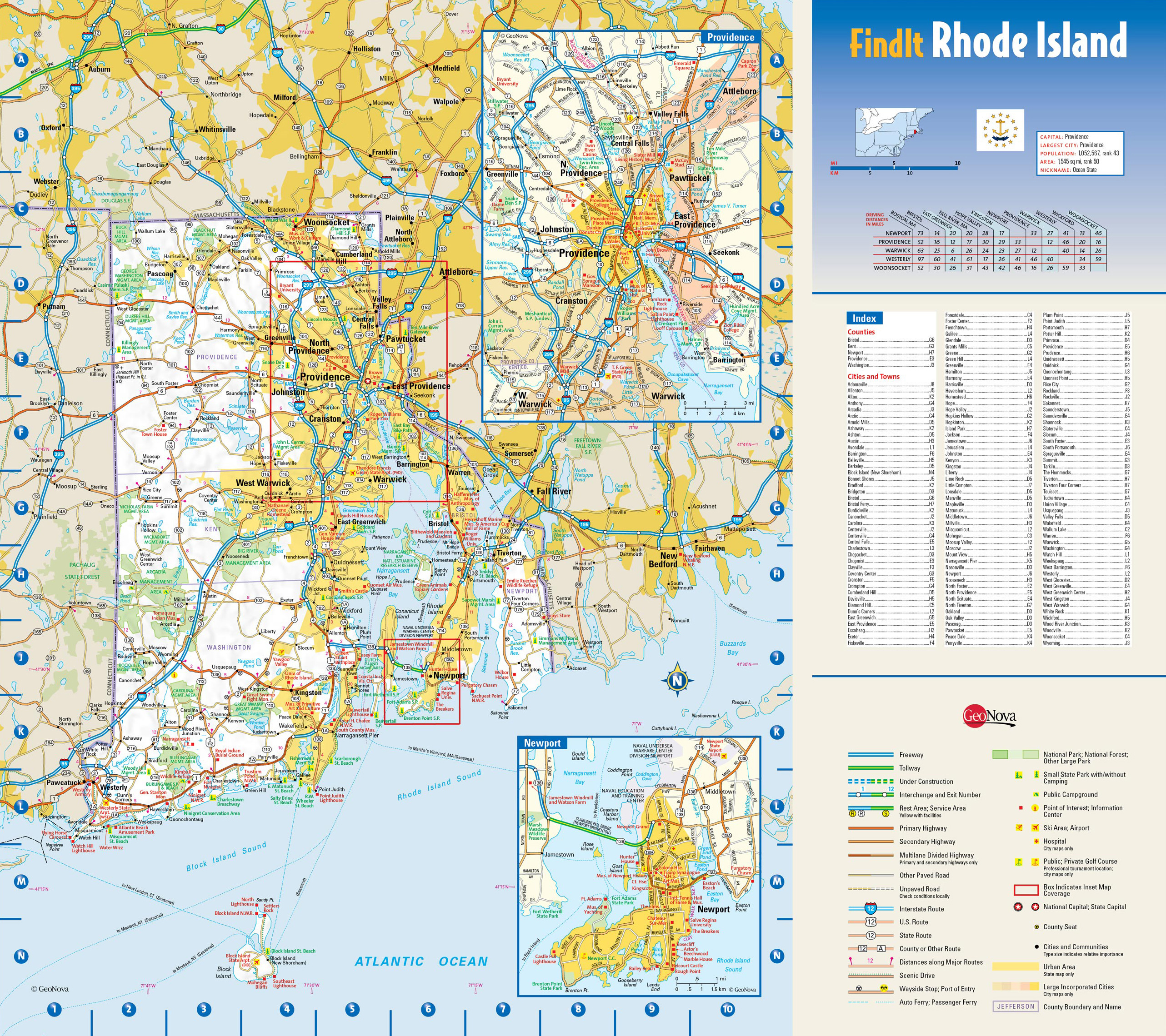 Large Detailed Roads And Highways Map Of Rhode Island State With - Rhode island usa map