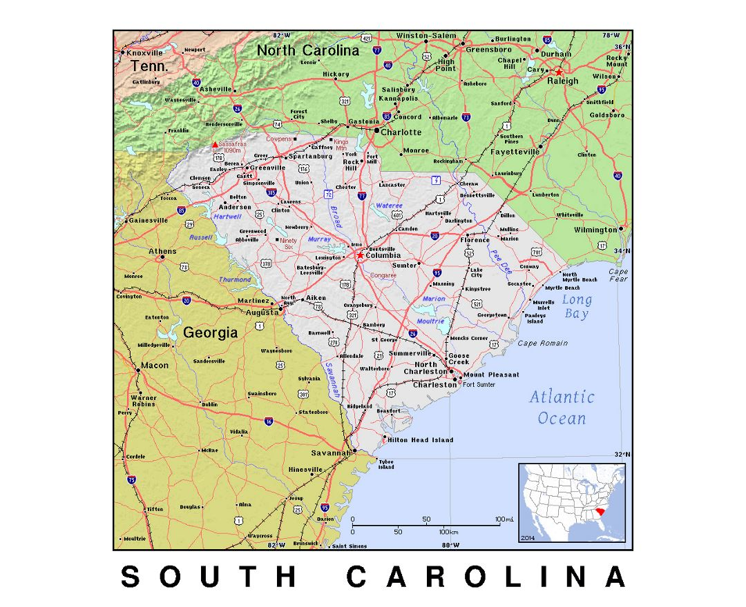 Maps Of South Carolina State Collection Of Detailed Maps Of - Detailed map of south carolina