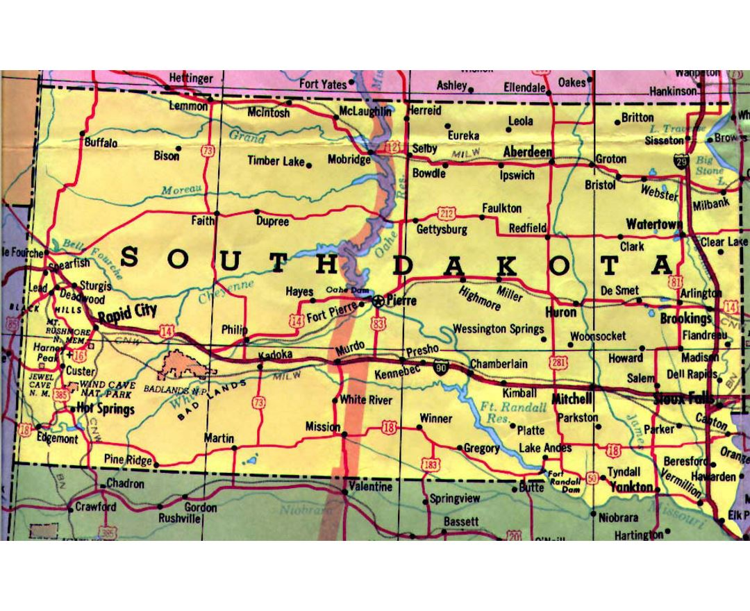 Maps Of South Dakota State Collection Of Detailed Maps Of South - Map of south dakota