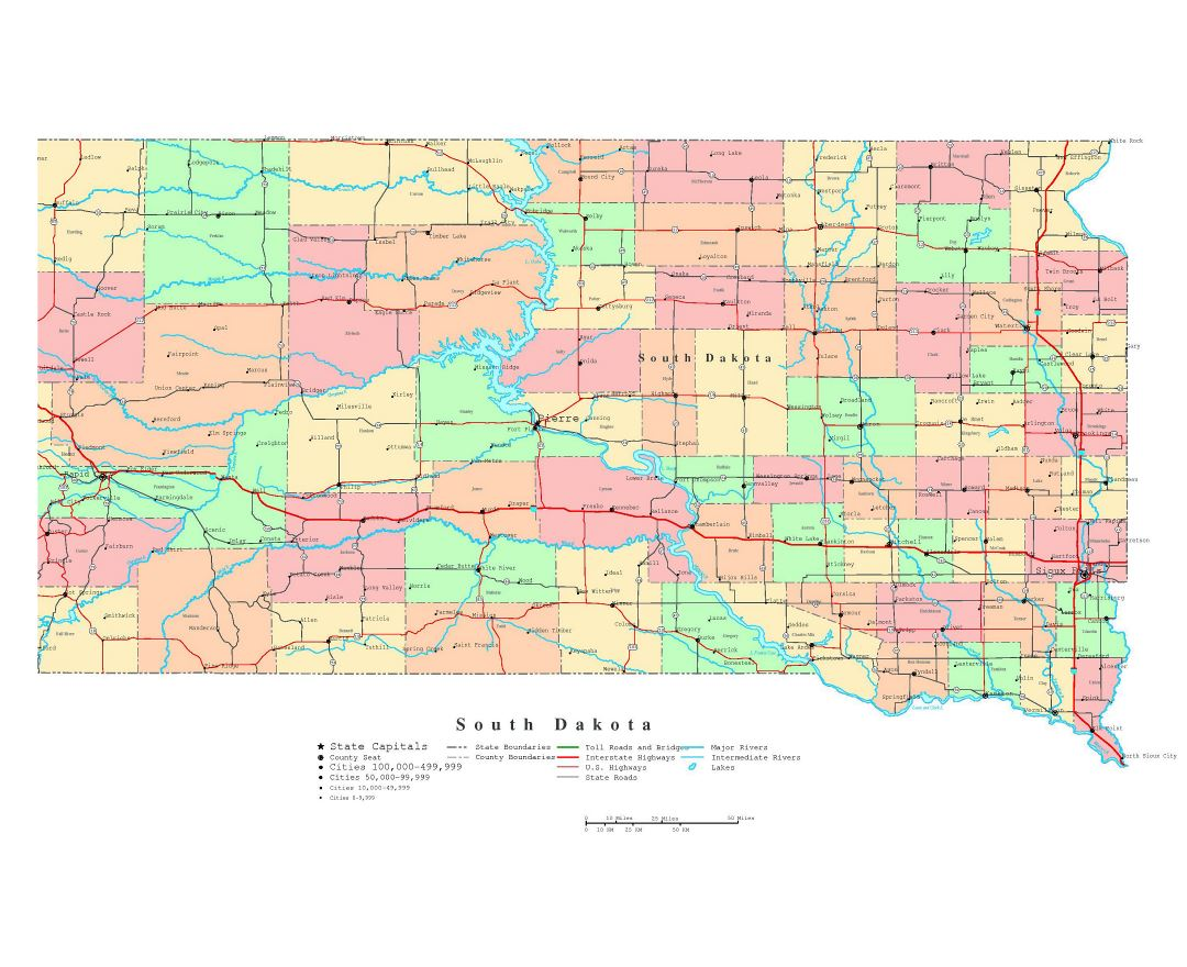 Maps Of South Dakota State Collection Of Detailed Maps Of South - Map of so dakota