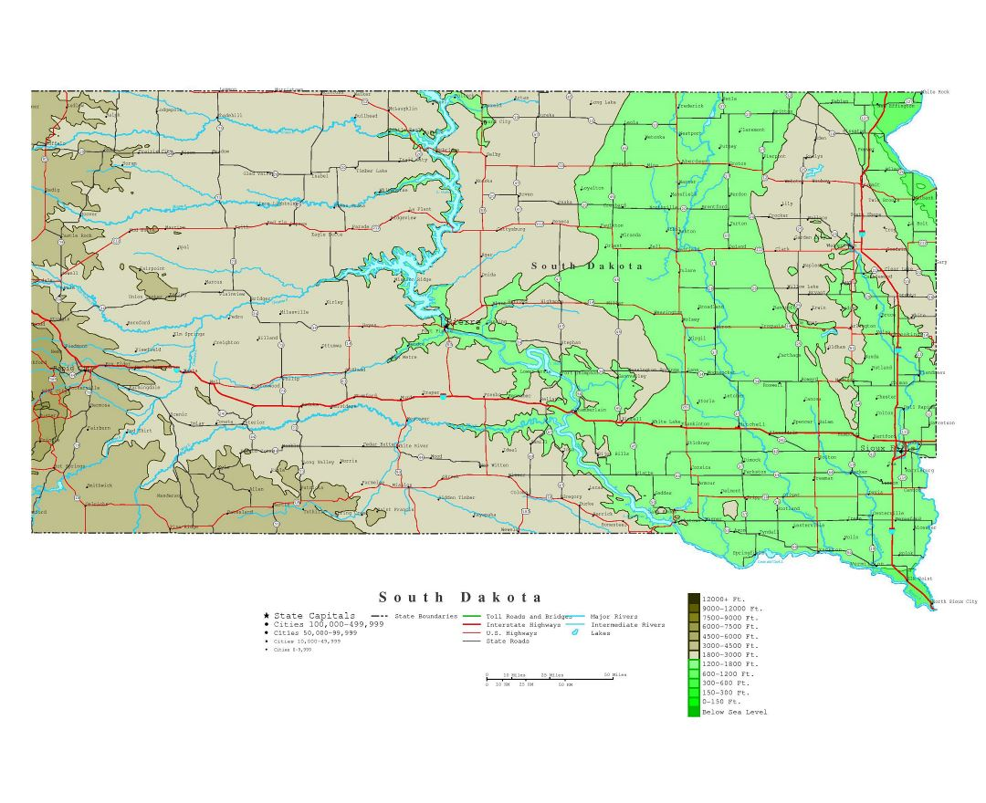 Maps of South Dakota state Collection of detailed maps of South