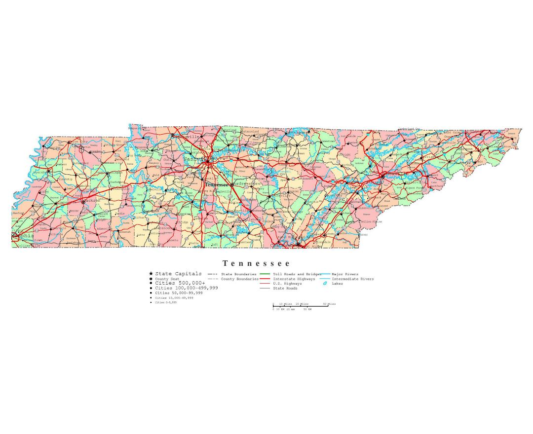 Maps Of Tennessee State Collection Of Detailed Maps Of Tennessee - Tennessee state map