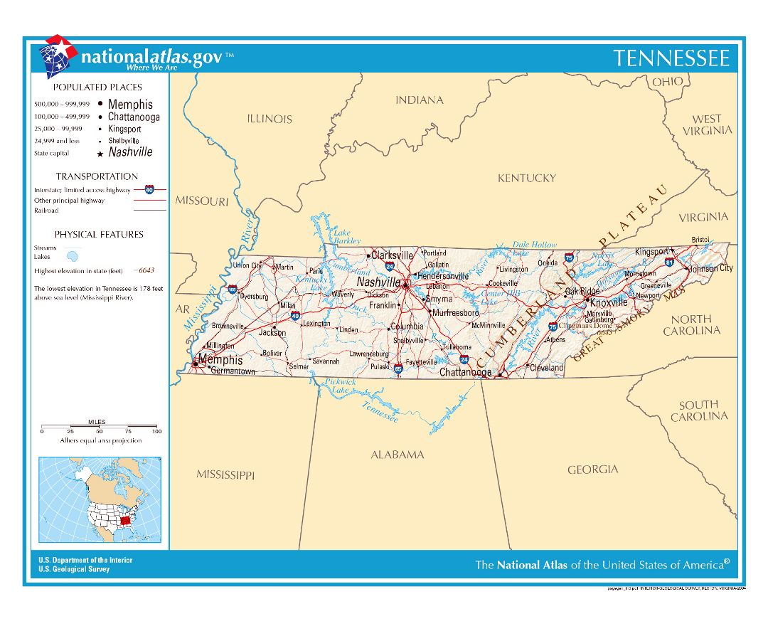 Maps Of Tennessee State Collection Of Detailed Maps Of Tennessee - Detailed map of alabama