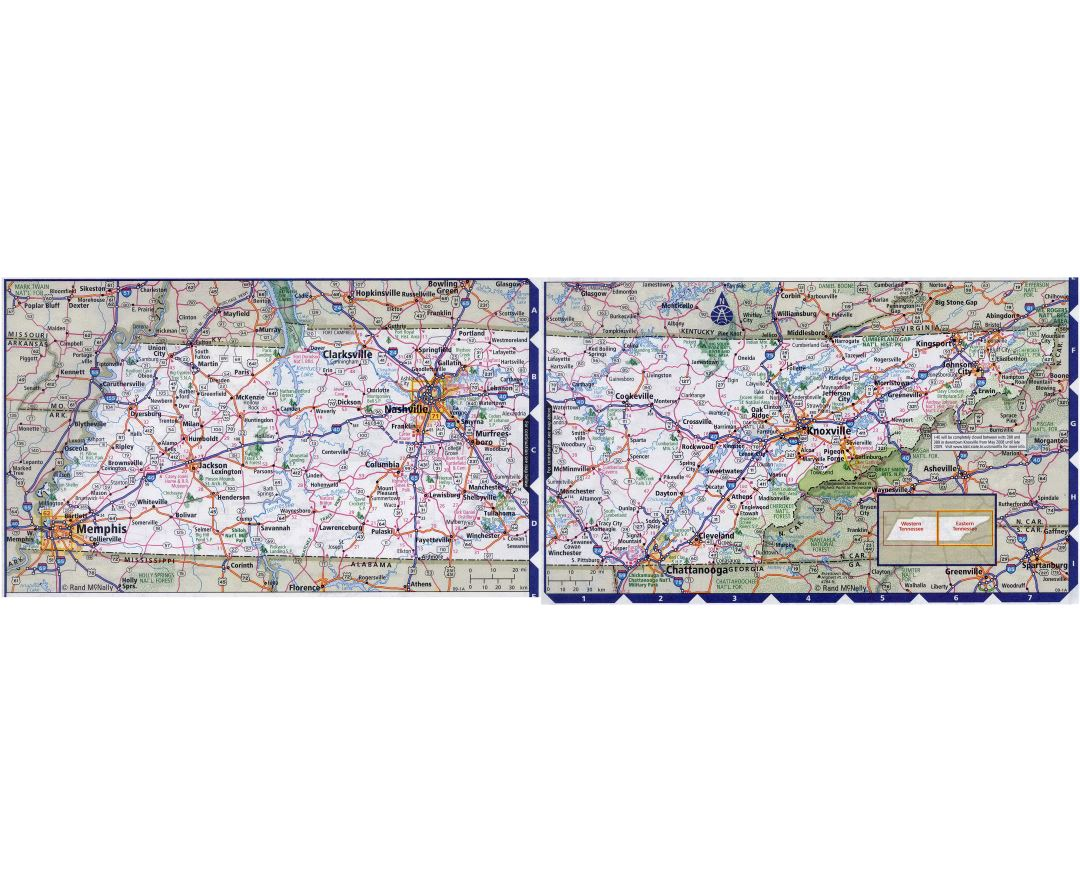 Maps of Tennessee state Collection of detailed maps of Tennessee