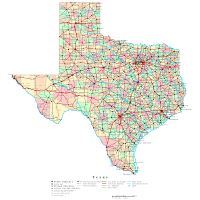 Map Of Texas With Highways.Large Detailed Physical Map Of The State Of Texas With Roads