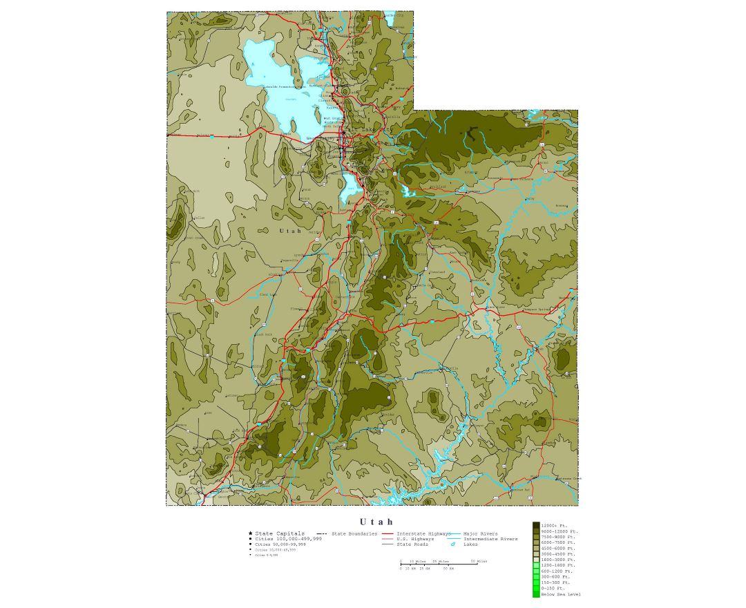 Maps of Utah state Collection of detailed maps of Utah state