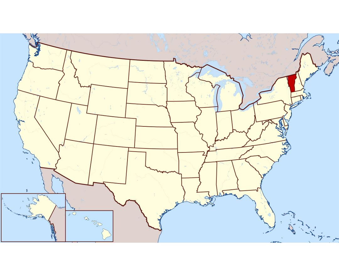 maps of vermont state  collection of detailed maps of vermont  - detailed location map of vermont state