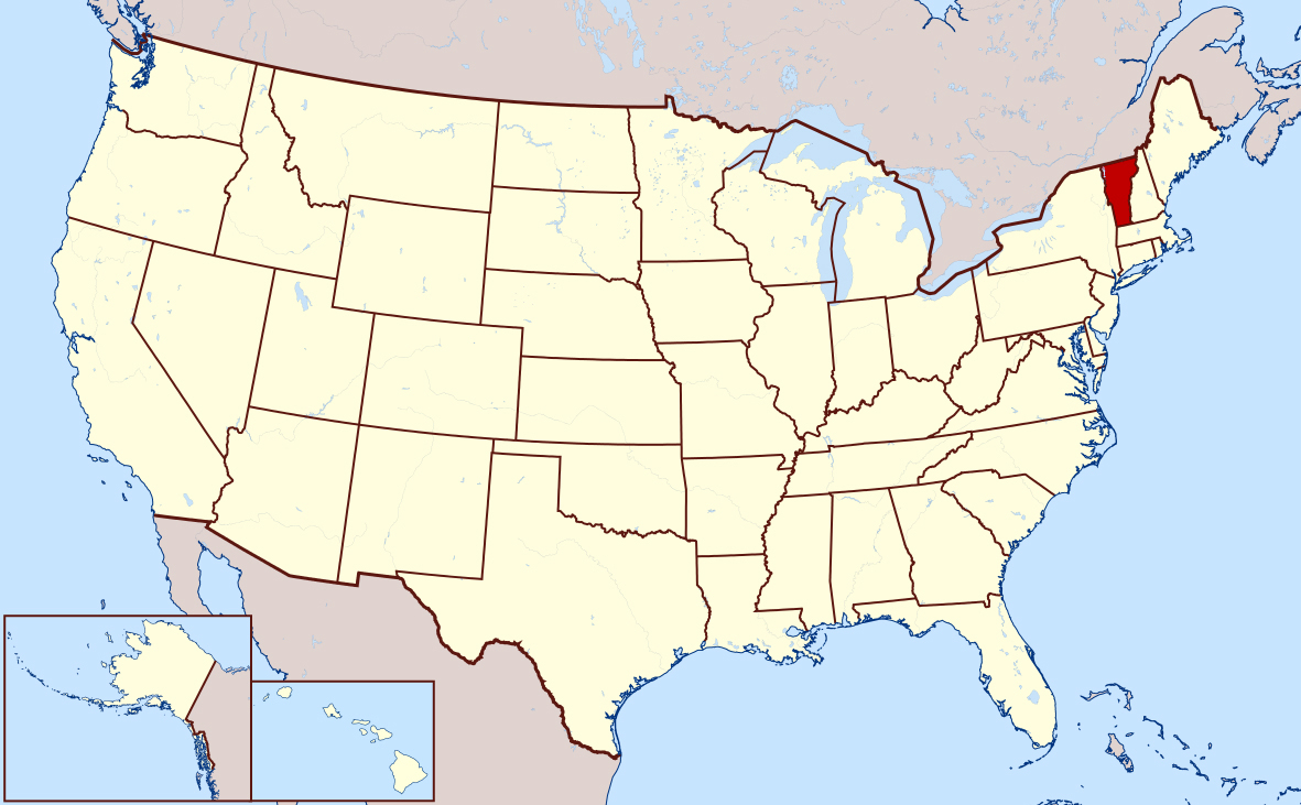 Map Of America Vermont.Detailed Location Map Of Vermont State Vermont State Usa Maps