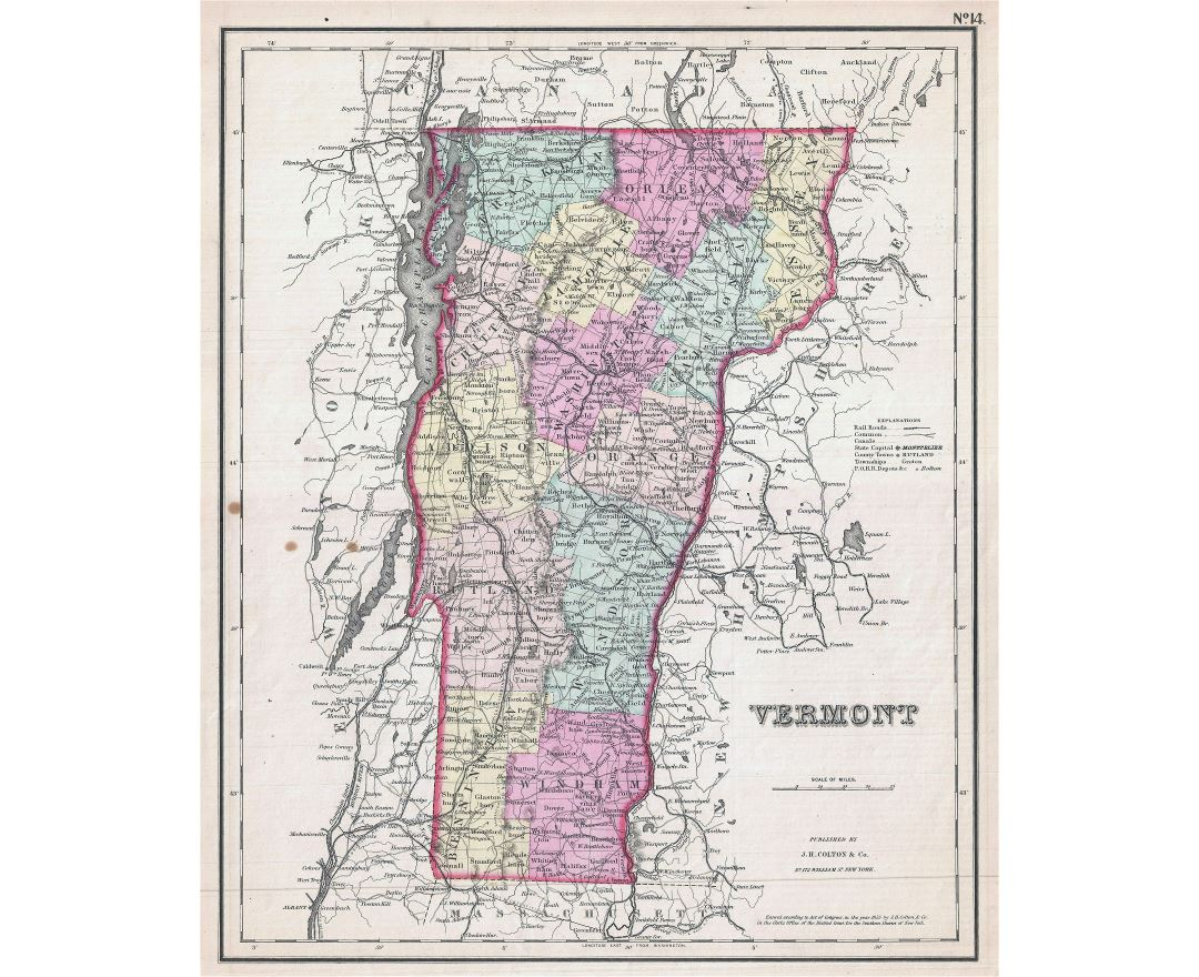 Maps of Vermont state Collection of detailed maps of Vermont state