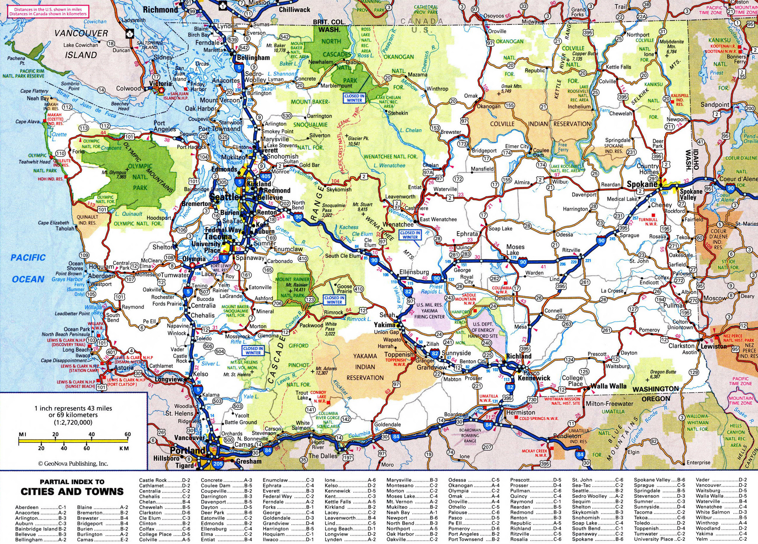 Picture of: Large Detailed Roads And Highways Map Of Washington State With All Cities And National Parks Washington State Usa Maps Of The Usa Maps Collection Of The United States Of America