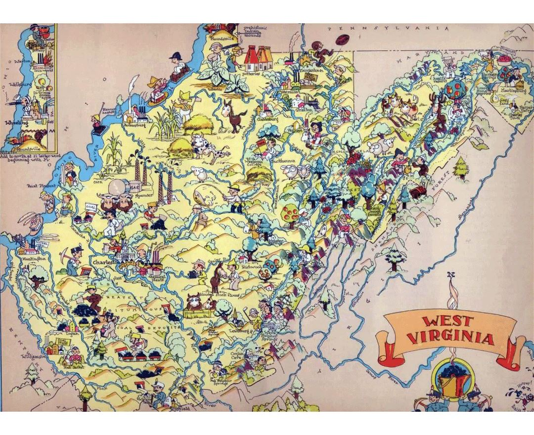 Maps of West Virginia state Collection of detailed maps of West