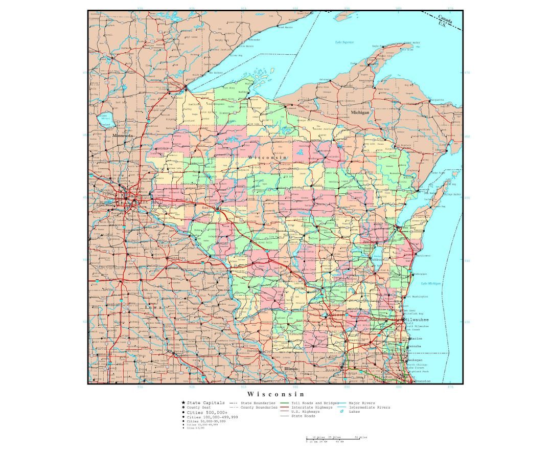 Map Of Midwest Usa States Eurovox Wiring Diagram - United states map with cities and highways